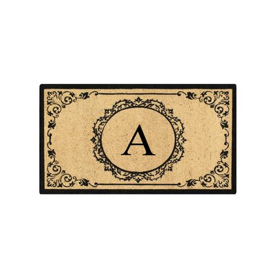First Impression Engineered Anti Shred Treated Hanna Decorative Border Monogrammed Doormat Letter: A