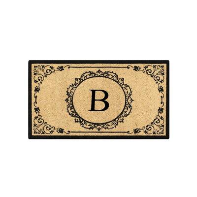 First Impression Engineered Anti Shred Treated Hanna Decorative Border Monogrammed Doormat Letter: B