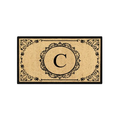 First Impression Engineered Anti Shred Treated Hanna Decorative Border Monogrammed Doormat Letter: C