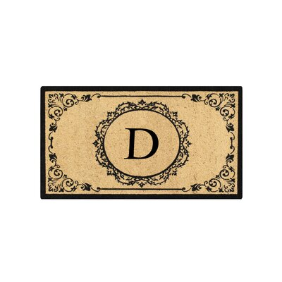 First Impression Engineered Anti Shred Treated Hanna Decorative Border Monogrammed Doormat Letter: D