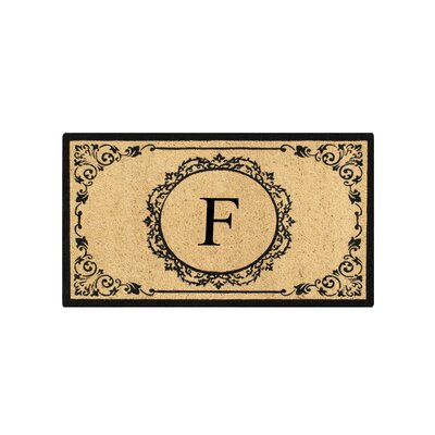 First Impression Engineered Anti Shred Treated Hanna Decorative Border Monogrammed Doormat Letter: F