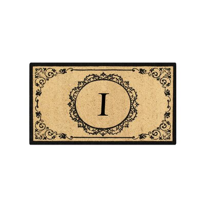 First Impression Engineered Anti Shred Treated Hanna Decorative Border Monogrammed Doormat Letter: I