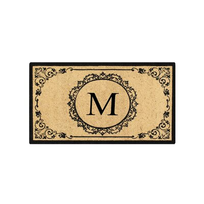First Impression Engineered Anti Shred Treated Hanna Decorative Border Monogrammed Doormat Letter: M