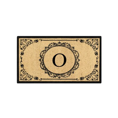 First Impression Engineered Anti Shred Treated Hanna Decorative Border Monogrammed Doormat Letter: O
