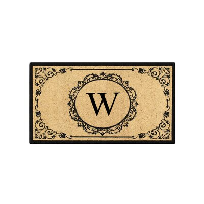First Impression Engineered Anti Shred Treated Hanna Decorative Border Monogrammed Doormat Letter: W