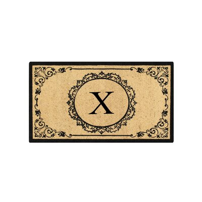 First Impression Engineered Anti Shred Treated Hanna Decorative Border Monogrammed Doormat Letter: X