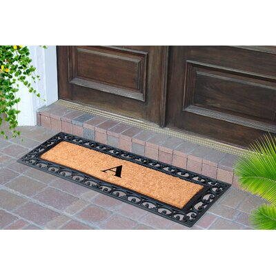 First Impression Myla Monogrammed Doormat Letter: A