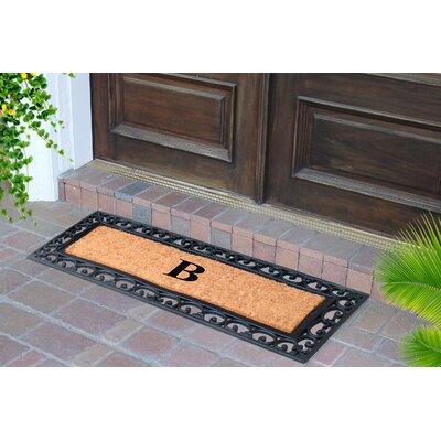 First Impression Myla Monogrammed Doormat Letter: B