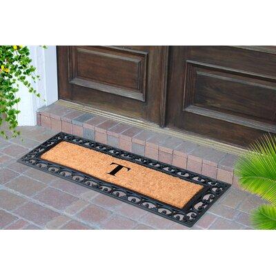 First Impression Myla Monogrammed Doormat Letter: T