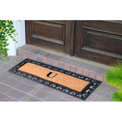 First Impression Myla Monogrammed Doormat Letter: U