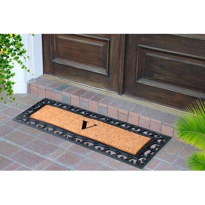 First Impression Myla Monogrammed Doormat Letter: V