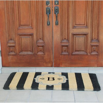 First Impression Haywood Entry Double Doormat Letter: B