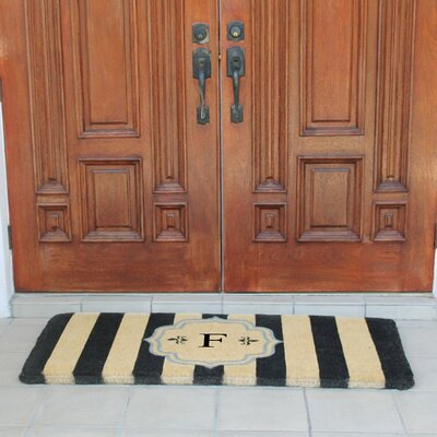 First Impression Haywood Entry Double Doormat Letter: F