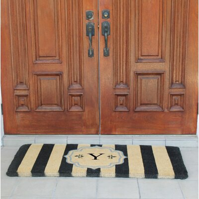 First Impression Haywood Entry Double Doormat Letter: Y
