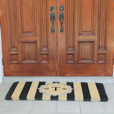 First Impression Haywood Entry Double Doormat Letter: T