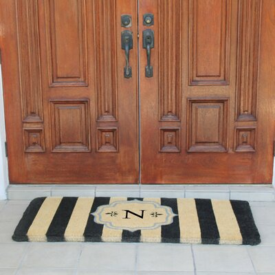 First Impression Haywood Entry Double Doormat Letter: N