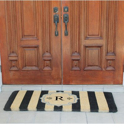 First Impression Haywood Entry Double Doormat Letter: R