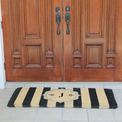 First Impression Haywood Entry Double Doormat Letter: J