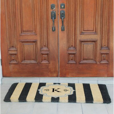 First Impression Haywood Entry Double Doormat Letter: K