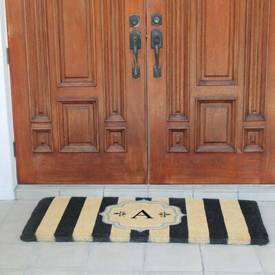 First Impression Haywood Entry Double Doormat Letter: A