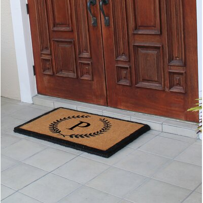 First Impression Doormat Letter: P