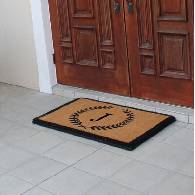 First Impression Doormat Letter: J