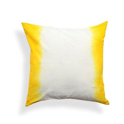 Ombre Cotton Throw Pillow Color: Yellow