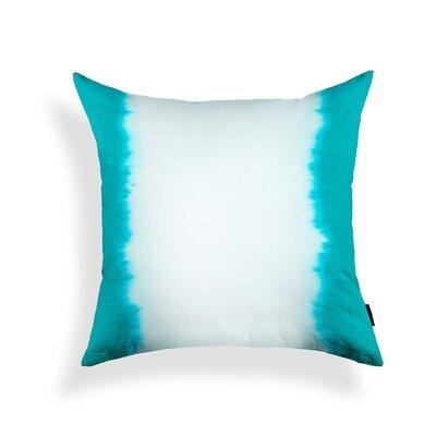 Ombre Cotton Throw Pillow Color: Blue