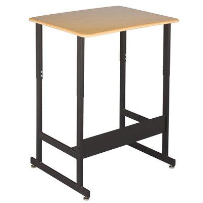 Standup-Sitdown Student Desk Frame Finish: Textured Black, Desk Finish: Charcoal