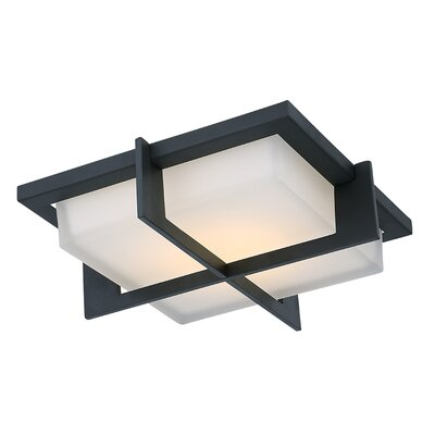 Razor Flush Mount Finish: Stainless Steel, Size: 1.5 H x 15.75 W x 15.75 D, Bulb Type: 40 Watt