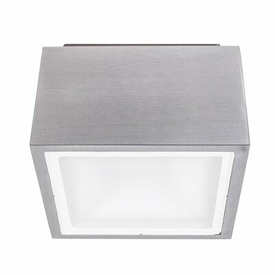 Bloc 1-Light LED Flush Mount Finish: Brushed Aluminum