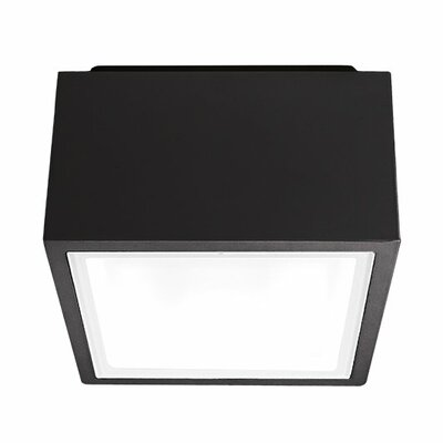 Bloc 1-Light LED Flush Mount Finish: Black