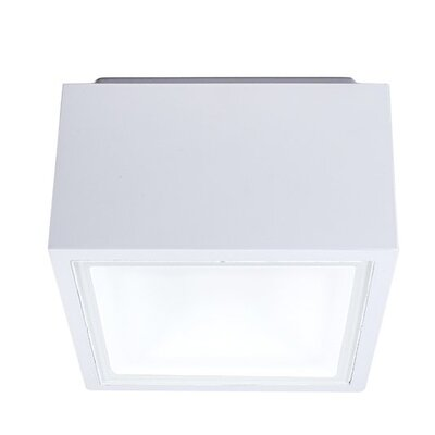 Bloc 1-Light LED Flush Mount Finish: White