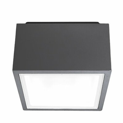 Bloc 1-Light Flush Mount Finish: Graphite