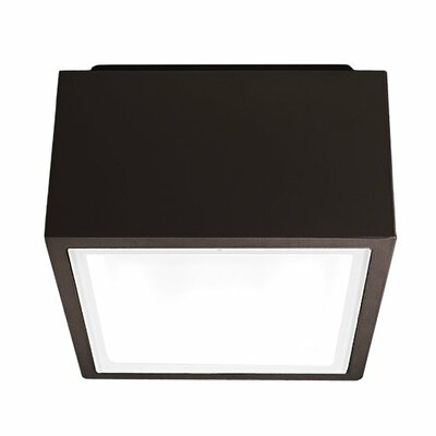 Bloc 1-Light LED Flush Mount Finish: Bronze