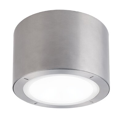 Vessel 1-Light Outdoor Flush Mount Finish: Brushed Aluminum