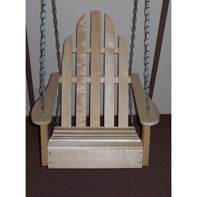 Adirondack Porch Swing Finish: Unfinished Aspen