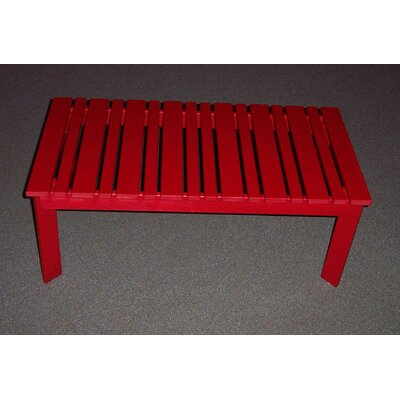 Coffee Table Finish: Fire Engine Red