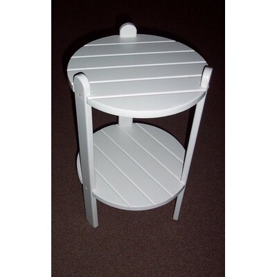 Cottage Bistro Table Table Size: 24 H x 15 W x 15 D, Finish: Satin White