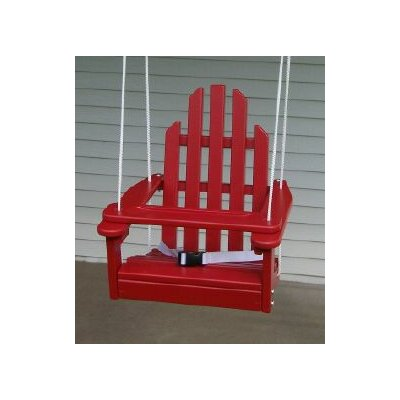 Kiddie Porch Swing Finish: Fire Engine Red