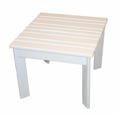 Adirondack Side Table Table Size: 16 W x 16 D, Finish: Satin White