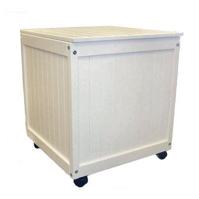 Storage Cube Ottoman Finish: Satin White