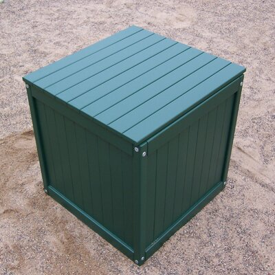 Storage Cube Ottoman Finish: Hunter Green