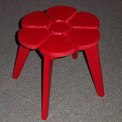 Junior Flower Side Table Finish: Fire Engine Red