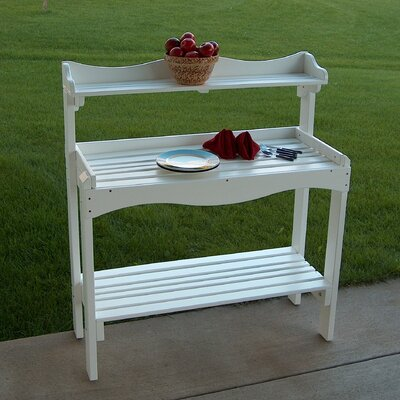 Backyard Buffet Table Finish: Satin White