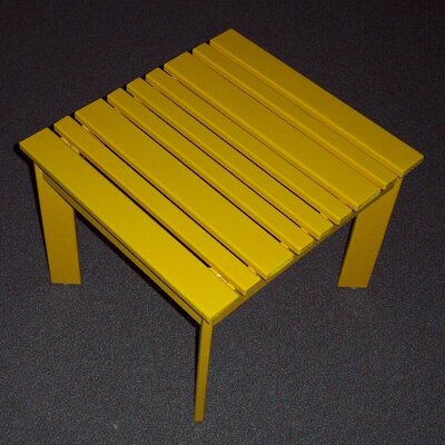 Adirondack Side Table Finish: Buttercup Yellow, Table Size: 20 W x 20 D