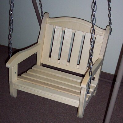 Garden Chair Porch Swing Finish: Unfinished Aspen
