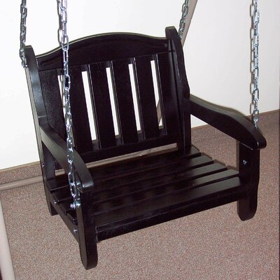 Garden Chair Porch Swing Finish: Black