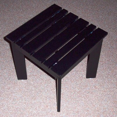 Adirondack Side Table Finish: Black, Table Size: 16 W x 16 D