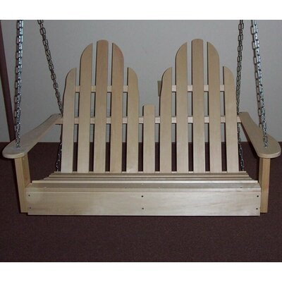 Adirondack Chair Swing Finish: Unfinished Aspen